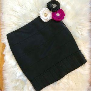 Reiss Knee High Black Pleated Skirt